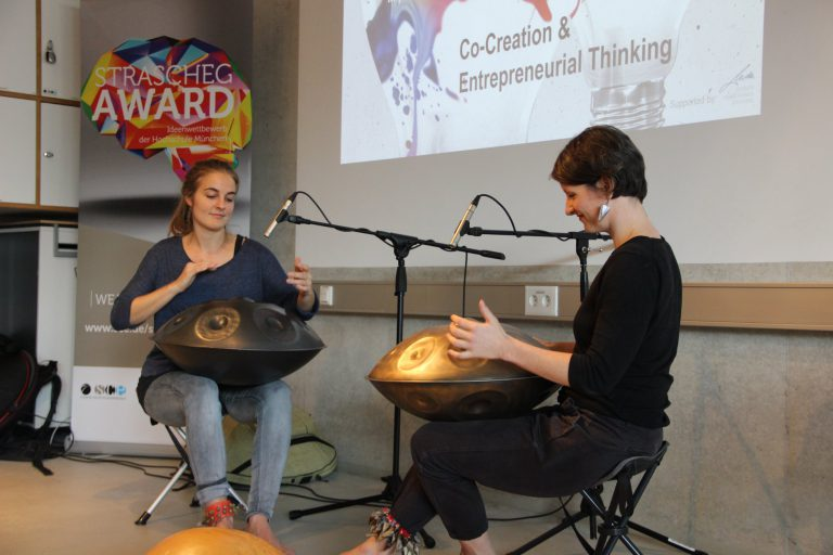 MEA handpan duo concert at Straschek Center, Munich
